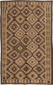 Kelim Teppe 148X251 Ekte Orientalsk Håndvevd Lysbrun/Brun/Mørk Brun (Ull, Persia/Iran)