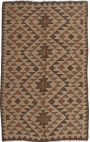 Kilim Rug 157X247 Authentic  Oriental Handwoven Brown/Light Brown/Dark Brown (Wool, Persia/Iran)