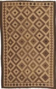 Kelim Tapijt 154X245 Echt Oosters Handgeweven Lichtbruin/Bruin (Wol, Perzië/Iran)