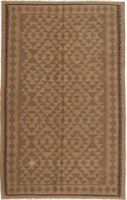 Kelim Teppe 154X247 Ekte Orientalsk Håndvevd Lysbrun/Brun (Ull, Persia/Iran)