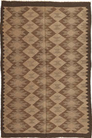 Kilim Rug 157X243 Authentic  Oriental Handwoven Brown/Light Brown (Wool, Persia/Iran)
