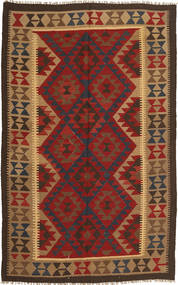 Kilim Maimane Rug 150X244 Authentic  Oriental Handwoven Dark Brown/Dark Red (Wool, Afghanistan)