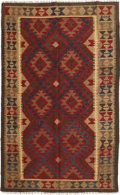 Kilim Maimane Szőnyeg 149X247 Keleti Kézi Szövésű Sötétpiros/Világosbarna (Gyapjú, Afganisztán)
