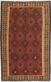 Kilim Maimane Szőnyeg 154X249 Keleti Kézi Szövésű Sötétpiros/Sötétbarna (Gyapjú, Afganisztán)