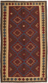 Kelim Maimane Teppe 150X259 Ekte Orientalsk Håndvevd Mørk Brun/Mørk Rød (Ull, Afghanistan)