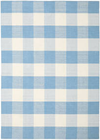 Check Kilim Rug 240X340 Authentic  Modern Handwoven Light Blue/Beige (Wool, India)