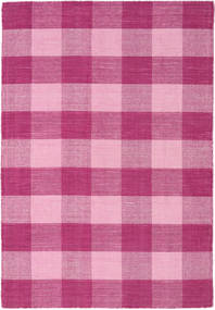 Check Kilim Rug 120X180 Authentic  Modern Handwoven Pink/Light Pink (Wool, India)