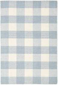 Check Kilim Rug 120X180 Authentic  Modern Handwoven Light Blue/Beige/White/Creme (Wool, India)