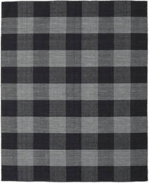 Check Kilim Rug 190X240 Authentic  Modern Handwoven Dark Grey/Black (Wool, India)