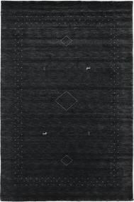 Loribaf Loom Alfa - Zwart/Grijs Vloerkleed 190X290 Modern Zwart (Wol, India)