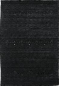 Loribaf Loom Eta - Zwart/Grijs Vloerkleed 190X290 Modern Donkergrijs (Wol, India)