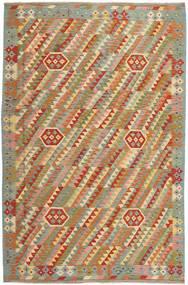 Kelim Afghan Old Style Tapijt 199X302 Echt Oosters Handgeweven Lichtgrijs/Lichtbruin (Wol, Afghanistan)