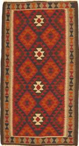 Kelim Maimane Koberec 107X196 Orientální Ruční Tkaní Červenožlutá/Tmavě Hnědá (Vlna, Afghánistán)
