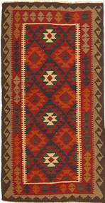 Kelim Maimane Matto 104X198 Itämainen Käsinkudottu Ruoste/Tummanruskea (Villa, Afganistan)