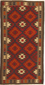 キリム マイマネ 絨毯 100X198 オリエンタル 手織り 錆色/濃い茶色 (ウール, アフガニスタン)