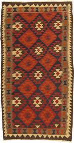 Kilim Maimane Dywan 100X197 Orientalny Tkany Ręcznie Ciemnoczerwony/Brązowy (Wełna, Afganistan)