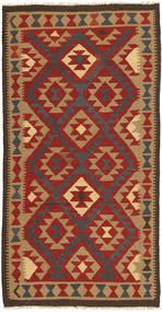 キリム マイマネ 絨毯 100X198 オリエンタル 手織り 深紅色の/薄茶色/濃いグレー (ウール, アフガニスタン)