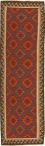 Kilim Rug 86X297 Authentic  Oriental Handwoven Hallway Runner  Dark Red/Dark Brown (Wool, Persia/Iran)