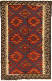 Kilim Maimane Szőnyeg 99X155 Keleti Kézi Szövésű Rozsdaszín/Sötétbarna (Gyapjú, Afganisztán)