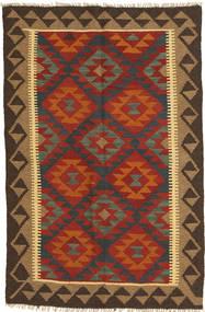 Kilim Maimane Rug 102X155 Authentic  Oriental Handwoven Dark Red/Dark Grey (Wool, Afghanistan)