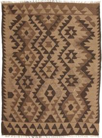 Kelim Teppich  149X197 Echter Orientalischer Handgewebter Braun/Dunkelbraun (Wolle, Persien/Iran)