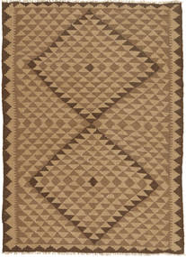 Kilim Rug 145X207 Authentic  Oriental Handwoven Light Brown/Brown (Wool, Persia/Iran)