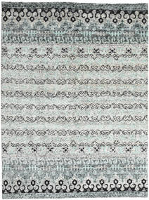 Quito - Grey Rug 240X340 Authentic  Modern Handknotted Light Grey/Beige (Silk, India)