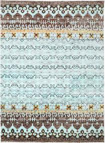 Quito - L. Blå Matta 240X290 Äkta Modern Handknuten Ljusblå/Ljusgrå (Silke, Indien)