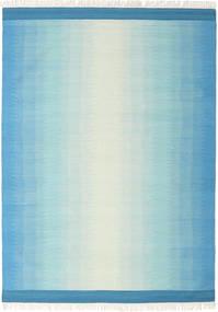 Ikat - Blu/Turchese Tappeto 210X290 Moderno Tessuto A Mano Blu Turchese/Azzurro (Lana, India)