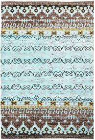 Quito - L. Blå Matta 190X290 Äkta Modern Handknuten Turkosblå/Mörkgrå (Silke, Indien)