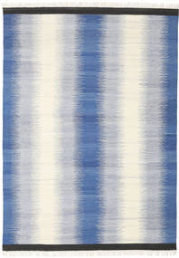 Ikat - Blue Rug 210X290 Authentic  Modern Handwoven Beige/Blue/Light Grey (Wool, India)