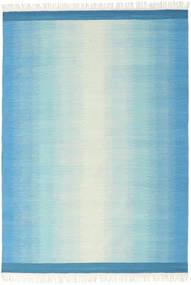 Ikat - Blauw/Turkoois Vloerkleed 160X230 Echt Modern Handgeweven Lichtblauw/Turquoise Blauw (Wol, India)
