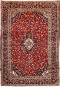 Keshan Rug 277X401 Authentic  Oriental Handknotted Dark Red/Brown/Light Brown Large (Wool, Persia/Iran)