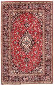 カシャン 絨毯 196X303 オリエンタル 手織り 茶/深紅色の (ウール, ペルシャ/イラン)
