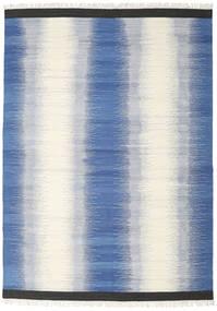 Ikat - 青 絨毯 240X340 モダン 手織り 青/ベージュ (ウール, インド)