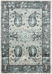 Vega Sari Silk - Grey Rug 140X200 Authentic  Modern Handknotted Light Grey/Dark Grey (Silk, India)