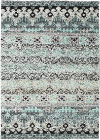 Quito - Grey Rug 140X200 Authentic  Modern Handknotted Light Grey/Blue (Silk, India)