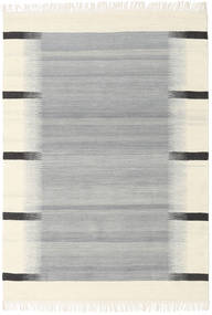 Ikat - Grey Rug 140X200 Authentic  Modern Handwoven Light Grey/Beige (Wool, India)