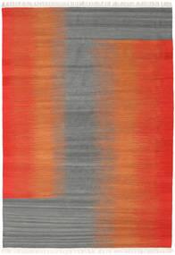 Ikat - Röd / Grå matta CVD17523