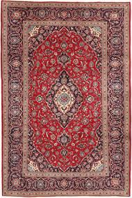 Keshan Matta 200X300 Äkta Orientalisk Handknuten Mörkröd/Ljuslila (Ull, Persien/Iran)