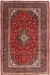 Keshan Tappeto 200X304 Orientale Fatto A Mano Rosso Scuro (Lana, Persia/Iran)