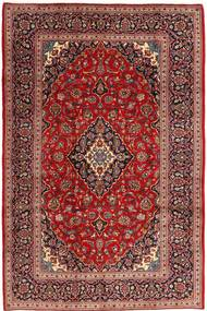 Keshan Matta 200X304 Äkta Orientalisk Handknuten Mörkröd (Ull, Persien/Iran)