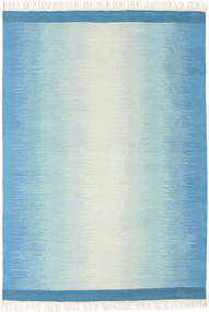 Ikat - Blå/Turquoise Tæppe 140X200 Ægte Moderne Håndvævet Lyseblå/Beige (Uld, Indien)