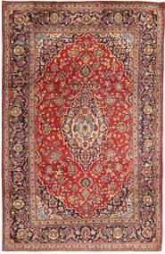 Keshan Rug 194X295 Authentic  Oriental Handknotted Dark Red/Dark Brown (Wool, Persia/Iran)