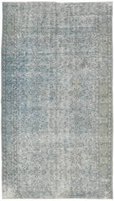 Colored Vintage Rug 150X277 Authentic  Modern Handknotted Light Grey/Light Green (Wool, Turkey)