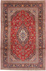 Keshan Rug 198X305 Authentic  Oriental Handknotted Dark Red/Brown (Wool, Persia/Iran)