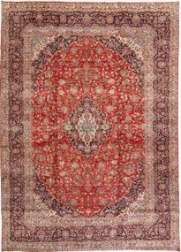 Keshan Matta 291X404 Äkta Orientalisk Handknuten Mörkröd/Ljusbrun Stor (Ull, Persien/Iran)