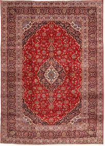 Keshan Rug 248X344 Authentic  Oriental Handknotted Brown/Dark Red (Wool, Persia/Iran)