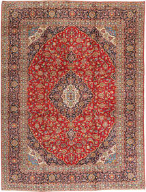 Keshan Matta 293X381 Äkta Orientalisk Handknuten Brun/Roströd Stor (Ull, Persien/Iran)