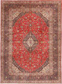 Keshan Koberec 290X398 Orientální Ručně Tkaný Světle Hnědá/Hnědá Velký (Vlna, Persie/Írán)
